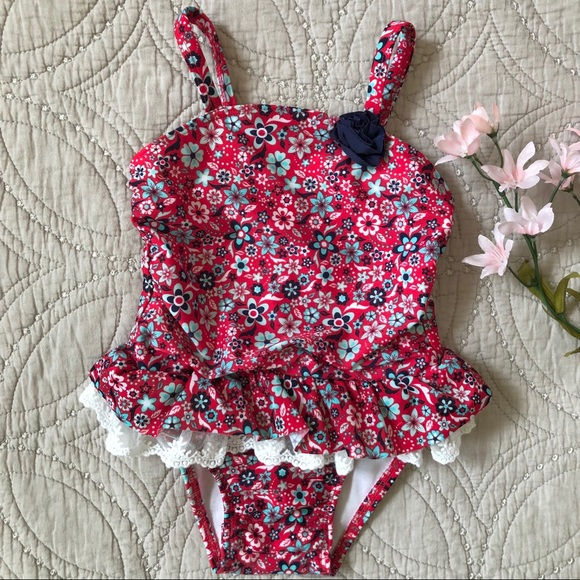 2079e0f2d2 Cat & Jack Swim | Cat Jack Girls Floral Onepiece Suit 2t | Poshmark